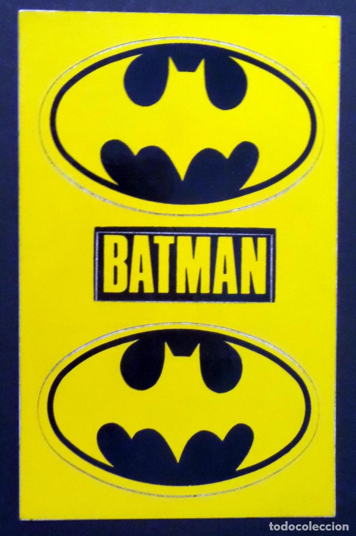 Postales: Colección de 3 postales con adhesivos de BATMAN de TM & DC COMICS inc. año 1964. Ver fotos - Foto 3 - 80515269