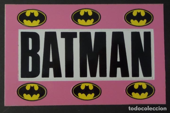 Postales: Colección de 3 postales con adhesivos de BATMAN de TM & DC COMICS inc. año 1964. Ver fotos - Foto 4 - 80515269