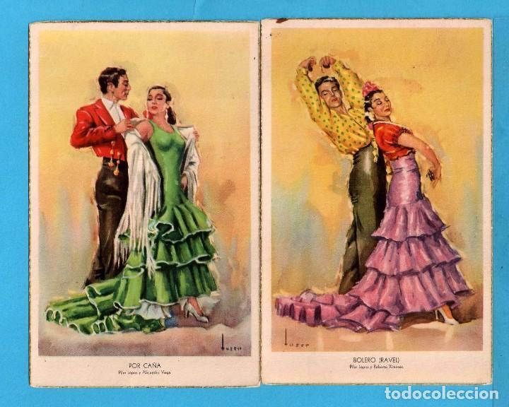 DOS POSTALES DE FOLKLORE ANDALUZ DIBUJO USER EDITOR LAIETANA SIN CIRCULAR (Postales - Dibujos y Caricaturas)