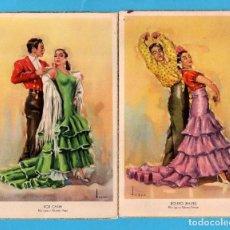 Postales: DOS POSTALES DE FOLKLORE ANDALUZ DIBUJO USER EDITOR LAIETANA SIN CIRCULAR . Lote 80717066
