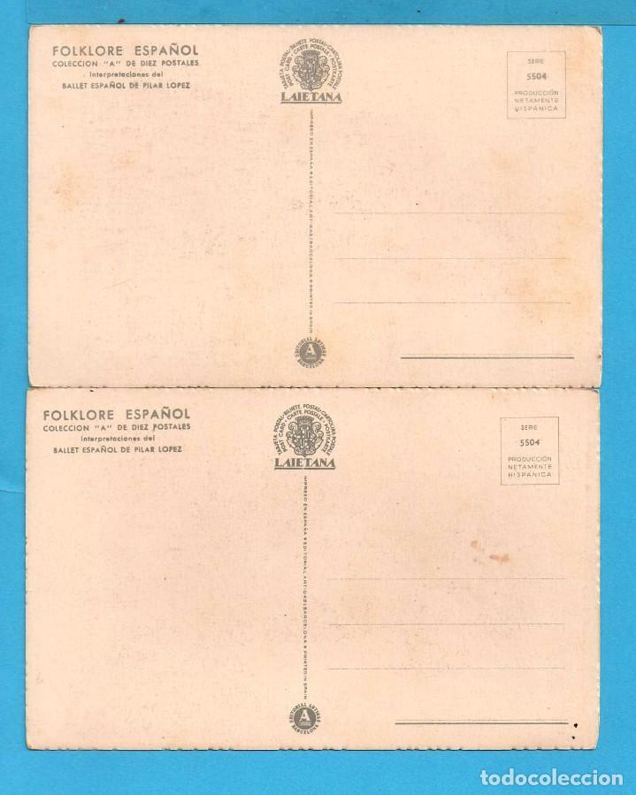 Postales: Dos Postales de Folklore Andaluz Dibujo user Editor Laietana Sin Circular - Foto 2 - 80717066