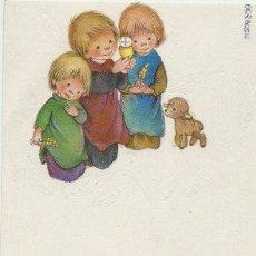 Postales: P122- SALMONS - EDICIONES BUSQUETS 01.07.084.1 - PRECIOSO RECORDATORIO - 1983. Lote 81083028