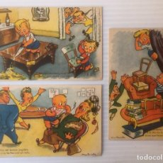 Postales: LOTE DE 3 POSTALES ILUSTRADAS POR MUNTAÑOLA. NO CIRCULADAS.. Lote 81218400