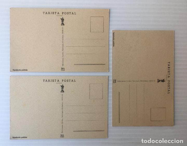 Postales: LOTE DE 3 POSTALES ILUSTRADAS POR MUNTAÑOLA. NO CIRCULADAS. - Foto 2 - 81218400
