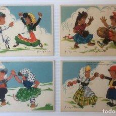 Postales: LOTE DE 4 POSTALES ILUSTRADAS POR MOURO. SIN CIRCULAR.. Lote 81223412