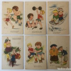 Postales: LOTE DE 6 POSTALES ILUSTRADAS POR MOURO. SIN CIRCULAR.. Lote 81223760