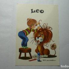Postales: POSTAL HOROSCOPO LEO - DIBUJO ESCARRA. Lote 82197388