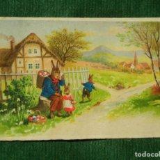 Postales: ANTIGUA POSTAL - CONEJOS Y HUEVOS DE PASCUA - AMAG 3033 - AÑOS 1940. Lote 82470992