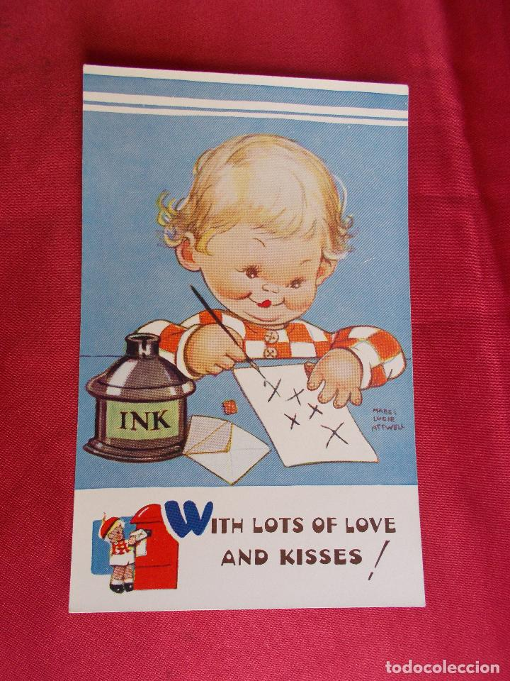 BONITA POSTAL. WITH LOTS OF LOVE AND KISSES !. MABEL LUCIE ATTWELL. VALENTINE'S. 5050. (Postales - Dibujos y Caricaturas)