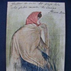 Postales: POSTAL RAMÓN CASAS. ESCRITA, CON FECHA 1902. SIN PARTIR. THOMAS. Lote 85067088