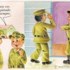 Postales: -51447 POSTAL DIBUJO HUMOR MILITAR, POSTALES VIKINGO, BARCELONA. Lote 86174808