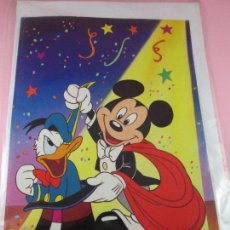 Postales: POSTAL-MICKEY Y PATO DONALD-ANTERIOR AL 2000-PRECINTADO-SOBRE-COLECCIONISTAS-VER FOTOS.. Lote 86361100