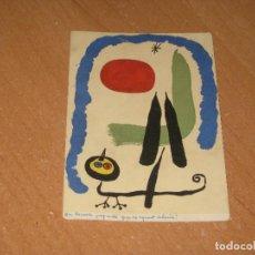 Postales: POSTAL DE JOAN MIRO. Lote 86481192