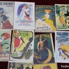 Postales: LOTE 10 POSTALES CARTELES FRANCESES AÑOS 20, AZAN EDITOR, PARIS. Lote 86586308