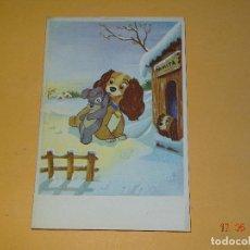 Postales: ANTIGUA TARJETA POSTAL PERSONAJE WALT DISNEY COPYRIGH DISNEY 1956 IMPRESA EN ESPAÑA. Lote 86880016