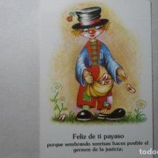 Postales: POSTAL HUMOR PAYASO DIBUJO LUIGI. Lote 88840156