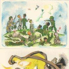 Postales: ILUSTRADOR: JOAN - AHIMSA - NO VIOLENCIA - 12 POSTALES - ESTUCHE - EDITADAS EN 1978 - S/C. Lote 88914856