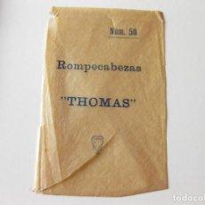 Postales: SOBRE VACIO DE PRINCIPIOS DEL SIGLO XX DE ROMPECABEZAS THOMAS Nº 50. Lote 89059884