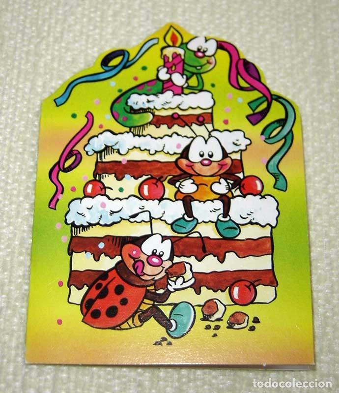 Antigua Invitación Tarjeta Postal Troquelada Para Cumpleaños Años 80 90 Nueva Sin Uso