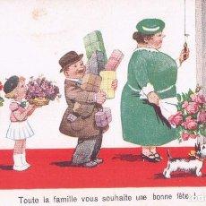 Postales: POSTAL CARICATURA - FAMILIA - TOUTE LA FAMILIE VOUS SOUHAITE UNE BONNE FETE -GERMANY - 7148/1 WSSB -. Lote 90170260