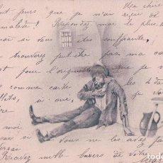 Postales: POSTAL CARICATURA BORRACHO - CIRCULADA 1903. Lote 90799035