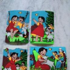 Postales: 4 POSTALES HEIDI PLASTIFICADAS.. Lote 91596440