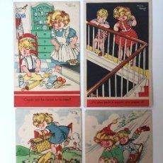 Postales: LOTE POSTALES HUMORÍSTICOS DE MARÍA CLARET SERIE K Nº 1,2,3 & 5. Lote 93307375
