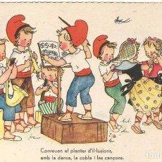 Postales: POSTAL DIBUJO CARICATURA NIÑOS ILUSTRADA M.D. SALMONS JBR B SERIE 40 LA COBLA DANSA. Lote 94925479