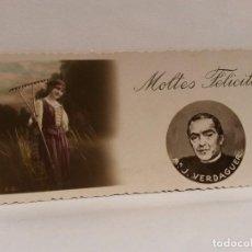 Postales: POSTAL MOLTES FELICITATS, M.J. VERDAGUER.. Lote 95261503