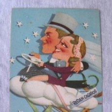 Postales: POSTAL JEANETTE MCDONALD Y NELSON EDDY - METRO GOLDWIN MAYER - AÑOS 40 (1944). Lote 95306475