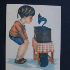 Postales: ANTIGUA POSTAL RADIOTELEFONIA HERTOGS / JUAN BARGUÑO - BARCELONA Nº 2 / ESCRITA. Lote 95488539