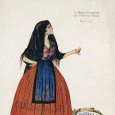 Postales: MURCIA ( LA MUJER ESPAÑOLA POR FEDERICO RIVAS ) -- NO CIRCULADA // ( NOV4 ). Lote 95507135