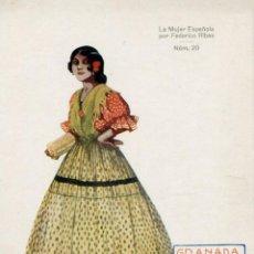 Postales: GRANADA ( LA MUJER ESPAÑOLA POR FEDERICO RIVAS ) -- NO CIRCULADA // ( NOV4 ). Lote 95507191
