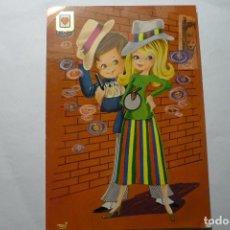 Postales: POSTAL DIBUJO TONI PAREJA GANGSTERS -ESCRITA. Lote 95536615