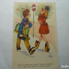 Postales: POSTAL EDICIONES LLAMA SERIE13 DIBUJO LINA ESCRITA. Lote 95657731