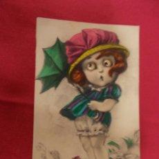 Postales: CURIOSA POSTAL. CON MOVIMIENTO EN LOS OJOS. D H. G. M. 902749. Lote 95891923