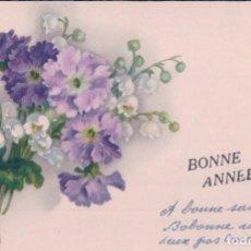 Postales: POSTAL DIBUJO RAMO DE FLORES . BONNE ANNE . Lote 96186687