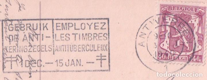 Postales: POSTAL DIBUJO RAMO DE FLORES - BONNE ANNEE - CIRCULADA - Foto 3 - 96186811