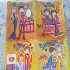 Cartes Postales: LOTE 4 SIMPÁTICAS POSTALES, A ESTRENAR AÑOS 60 Y 70 REF. 7148 CYZ ILUSTRACIÓN JOSEPO*. Lote 111906110