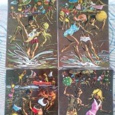 Cartes Postales: LOTE 4 SIMPÁTICAS POSTALES, A ESTRENAR AÑOS 60 Y 70 REF. 13464 ANCORA LUSTRACIÓN VICENTE ROSO*. Lote 111907138