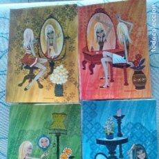 Cartes Postales: LOTE 4 SIMPÁTICAS POSTALES, A ESTRENAR AÑOS 60 Y 70 REF. 13462 ANCORA ILUSTRACIÓN BARRAGUER*. Lote 111908407