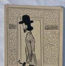 Postales: POSTAL 1900 A TINTA CABALLERO FIRMADA POR MUECAS SIN DIVIDIR NI CIRCULAR 14X9 CM. Lote 97315535