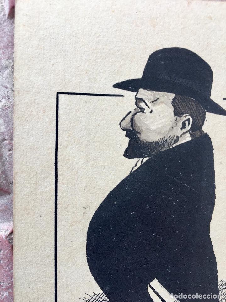 Postales: Postal 1900 a tinta caballero firmada por muecas sin dividir ni circular 14x9 cm - Foto 3 - 97316187
