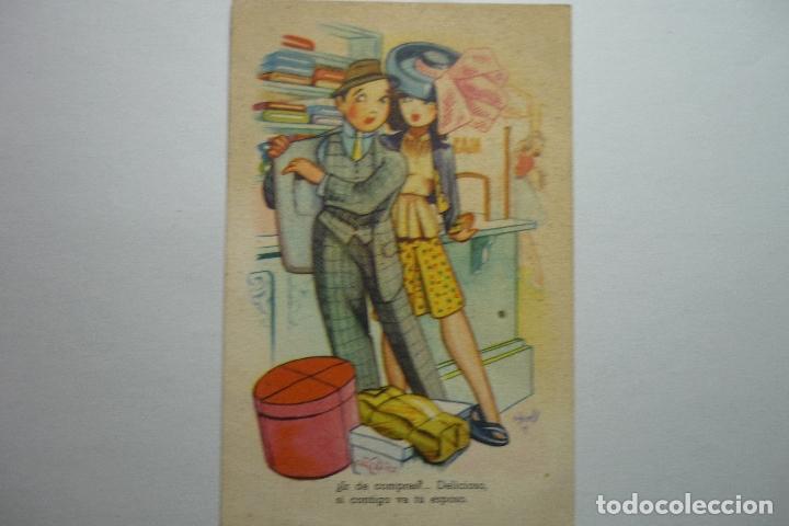 POSTAL EDICIONES LLAMA -DIBUJO RIPOLL --ESCRITA (Postales - Dibujos y Caricaturas)