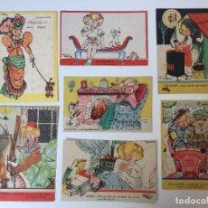 Postales: LOTE POSTALES HUMORÍSTICAS, COLECCIÓN MARÍA CLARET (AÑOS 40) . Lote 97807343