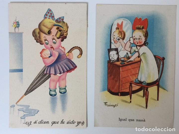 Postales: LOTE POSTALES HUMORÍSTICOS INFANTILES AÑOS 40 - Foto 2 - 97809611