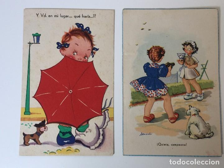 Postales: LOTE POSTALES HUMORÍSTICOS INFANTILES AÑOS 40 - Foto 3 - 97809611