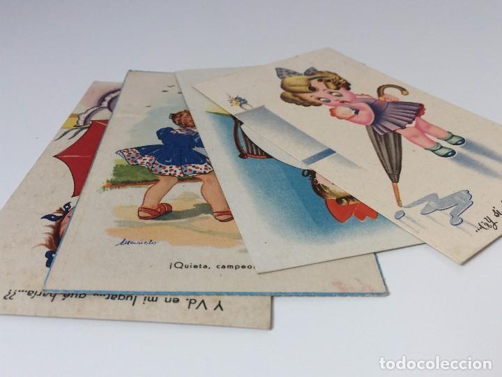 Postales: LOTE POSTALES HUMORÍSTICOS INFANTILES AÑOS 40 - Foto 6 - 97809611