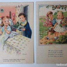 Postales: POSTALES HUMORÍSTICOS INFANTILES (1942). Lote 97809931