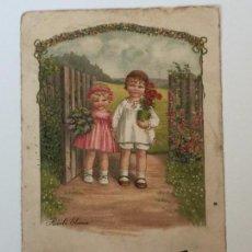 Postales: POSTAL AÑO 1937 INFANTIL CON SELLO CENSURA (REPUBLICA ESPAÑOLA) DIBUJO PAULI EBNER. Lote 97810699